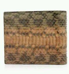 Paul Smith Snakeskin Khaki Billfold Wallet RRP £240