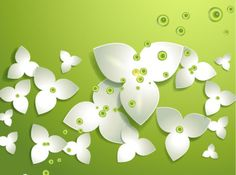 Elegant flowers vector