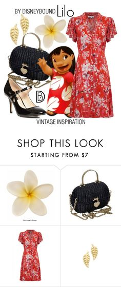 """""""Lilo"""" by leslieakay ❤ liked on Polyvore featuring Chanel, Lily and Lionel, Jennifer Meyer Jewelry, Dorothy Perkins, vintage, disney, disneybound and disneycharacter"""