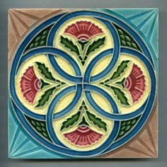 Vintage Relief moulded Art Deco tile by Sato, Japan, - Japanese floral decorative tile art tile Art Deco Tiles, Tile Art, Architectural Antiques, Decorative Tile, Art Nouveau, Mosaic, Decorations, Japanese, Ceramics