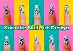 Karaoke Nail Art Design