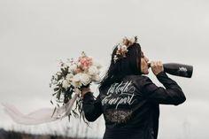 Romantic & Edgy Styled Coastal Elopement on Fox Island - Prinzessin - Rocker Wedding, Edgy Wedding, Gothic Wedding, Dream Wedding, Perfect Wedding, Bridal Shoot, Wedding Shoot, Wedding Dresses, Black Bridesmaid Dresses