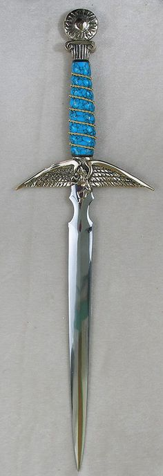 Pegasus with Turquoise I bought an athame from them sword knife Katana, Swords And Daggers, Knives And Swords, Pegasus, Ultramarines, Cool Swords, Medieval Weapons, Cool Knives, Pretty Knives