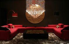 New Delhi, India. Interiors by Igloo Design. Delhi India, New Delhi, Design Projects, Design Ideas, Lounge Design, Private Room, Nightclub, Night Life, Light Bulb