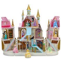 Disney Princess Magical Castle Play Set Hard plastic figurines