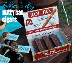 Father's Day Treat Idea ~ chocolate cigars (aka Little Debbie Nutty Bars) ~ perfect gift for new dads too; better than bubble gum cigars   @kimbyers TheCelebrationShoppe.com