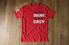 Fireman UP - Do What's Right Red Tee - Athletic Cut