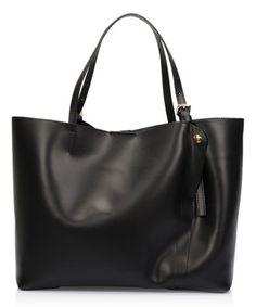 This Black Buckle-Handle Leather Tote is perfect! #zulilyfinds