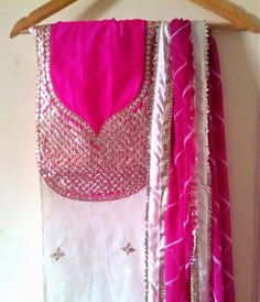 Rajasthani Gota Patti work Suits: Tradition Rajasthani Gota Patti Work suits (Unstitched) For Order Contact Us On 09768897928