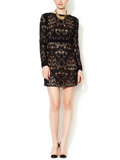 Lace Shift Dress with Silk Trim by Twelfth Street by Cynthia Vincent at Gilt