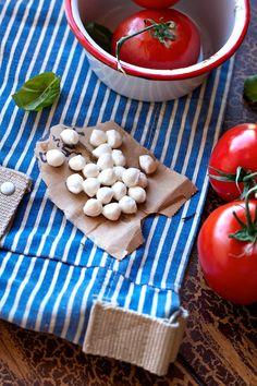 Roasted Tomato Basil Soup with Mozzarella Cheese on FamilyFreshCooking.com
