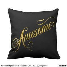 Awesome Quote Gold Faux Foil Quotes Metallic