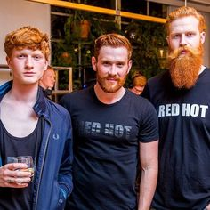"""""""The Evolution of Ginger""""  Throwback to the @redhot100 book launch in London last year with @tomasturpie & @tommybrady7"""