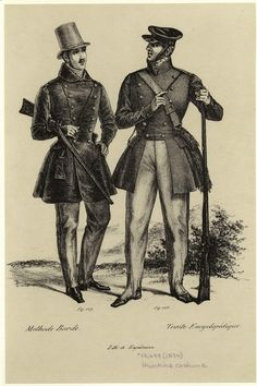 Hunting costume. Men -- Clothing & dress -- France -- 1830-1839