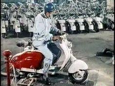Vespa Lambretta Stampa Il LAVORO ITALIANO-VISITE Brighton-Scooter