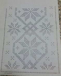 DIY & crafts projects, contents and more - Diy Crafts Filet Filet Diy Crafts 339529259408959865 P Crochet Cross, Filet Crochet, Diy Crochet, Crochet Table Topper, Crochet Table Runner Pattern, Crochet Winter, Holiday Crochet, Needlepoint Stitches, Crochet Stitches