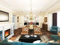classic living room: интерьер, квартира, дом, гостиная, неоклассика, 30 - 50 м2 #interiordesign #apartment #house #livingroom #lounge #drawingroom #parlor #salon #keepingroom #sittingroom #receptionroom #parlour #neoclassicism #30_50m2 arXip.com