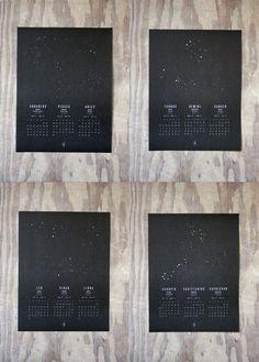 2011 Astrology Wall Calendar Prints