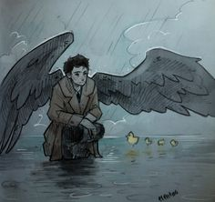 Just take a moment to appreciate this amazing picture of Castiel.... Carry on.