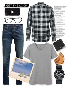 """""""Playfullysweet : Date with him today"""" by playfullysweet on Polyvore featuring Jack & Jones, TAG Heuer, Officine Générale, Petit Bateau, Bottega Veneta, Givenchy, Vivienne Westwood, Timberland, men's fashion and menswear"""