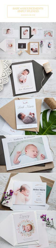 Product Spotlight: Baby Announcements: Simply Splendid