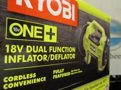 Ryobi Dual Function Inflator/Deflator Cordless Air Compressor Battery and Charger Not Included