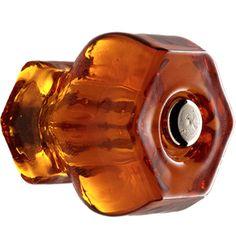 1-1/4in. Hexagonal Glass Knob Was $5 | Nickel-Plated Bolt | $2.99 final sale