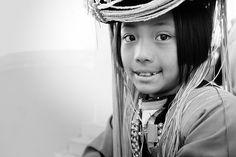 Beautiful hill tribe girl in Doi Mae Salong, Chiang Rai, North Thailand.