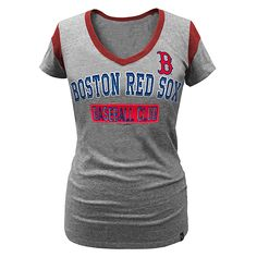 Boston Red Sox Women's Triblend V-neck Ringer T-Shirt  $22.99