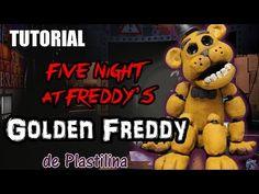 Tutorial Golden Freddy (FNaF) de Plastilina / Clay / Porcelana fria / Cold Porcelain - YouTube