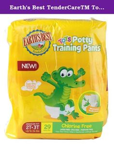 29 Count Chlorine-Free Potty Training Pants Earth/'s Best Tots Size 2T-3T