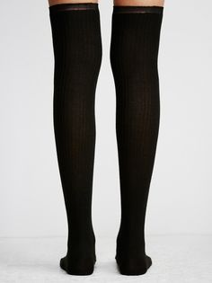 Dream State Shimmer Tall Sock   Over-the-knee ribbed socks with metallic shimmer stitching throughout.