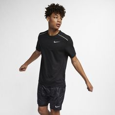 ff8eb778 Nike Rise 365 Men's Short-Sleeve Running Top - Black