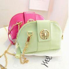 stacy bag women leather handbag for spring girl candy color mini shell bag female chain shoulder bag vintage small messenger bag $9.00