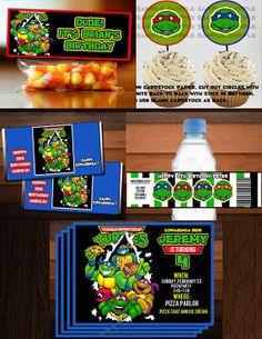 SUPER TMNT Party Package by BEANSandRICEdesigns on Etsy, $20.00