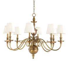 Buy Charleston 8 Light Chandelier by Hudson Valley Lighting - Made-to-Order designer Chandeliers from Dering Hall's collection of Traditional Lighting.