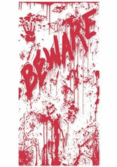 Bloody Door Cover Party Accessory (1 count) (1/Pkg) by Beistle. $3.62. Design is printed on one side only. Great for Haunted House. Scary Indoor Outdoor Home Décor. Create Stunning Eye-Catching Displays. indoor & outdoor use