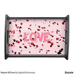 Hearts Of Love Service Tray