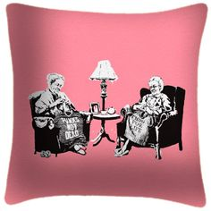 Punk Grannies - Graffiti Art Print Cushion