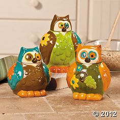 Owl Canisters $24.00 for the set of three!