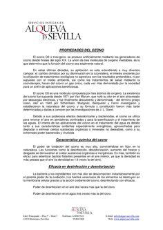 http://www.alquevasevilla.com/propiedades-del-ozono/ PROPIEDADES DEL OZONO  ALQUEVA - LIMPIEZA PROFESIONAL E INDUSTRIAL www.alquevalimpieza.com facebook.com/alquevalimpieza  Calle Artesanía, 25, Nave 28, P.I. PISA, Mairena del Aljarafe, Sevilla Tfnos. 954 047 808 - 619 007 510  Promocionado por Globalum. Marketing en Redes Sociales facebook.com/globalumspain