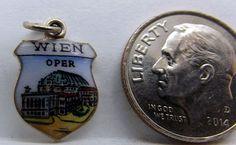 Vintage Austria .900 Silver & Enamel Wien (Vienna) Travel Shield Charm  #European http://www.ebay.com/itm/Vintage-Austria-900-Silver-Enamel-Wien-Vienna-Travel-Shield-Charm-/171615211998?ssPageName=STRK:MESE:IT