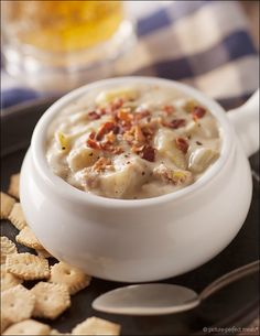 Classic Clam Chowder - canned clams and bottled clam juice make this classic chowder easy to prepare.