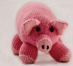 Pink Pig Toy in Cascade 128 Superwash