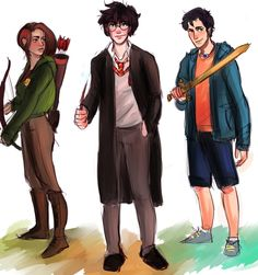Ah, some of my favorite people in the world . (from left to right) Katniss Everdeen (Hunger Games Trilogy) Harry Potter (Harry Potter Series) Percy Jackson (Percy Jackson Series & The Lost Hero Series) Jason Grace, Annabeth Chase, Magnus Chase, Katniss Everdeen, The Lost Hero Series, Harry Potter, Juegos Del Ambre, Four Movie, Oncle Rick