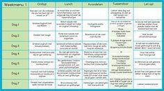 Weekschema 1 koolhydraatarm menu