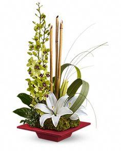Teleflora's Secret Oasis Flower Arrangement Standard $59.95 Deluxe $69.95 Premium $79.95
