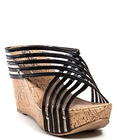 This Black See Through Platform Wedge by CheckList is perfect! http://www.zulily.com/?SSAID=930758&tid=acceleration_930758 #zulilyfinds
