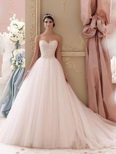 Adelina By David Tutera Blush Bridal Gown Preloved Second Hand Wedding Dresses Y