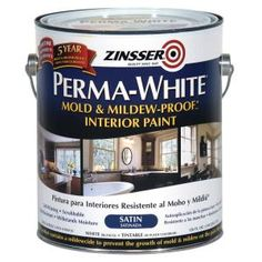 Zinsser White Semi-Gloss Perma-White White Tintable Interior Paint (Actual Net Contents: oz) at Lowe's. Zinsser Perma-White mold and mildew-proof interior paint is a high performance water-base paint formulated to protect moisture-prone areas while Mold In Bathroom, Bathroom Ideas, Bathrooms, Bathroom Interior, Mold On Bathroom Ceiling, Bathroom Staging, Diy Interior, Bathroom Remodeling, Interior Decorating